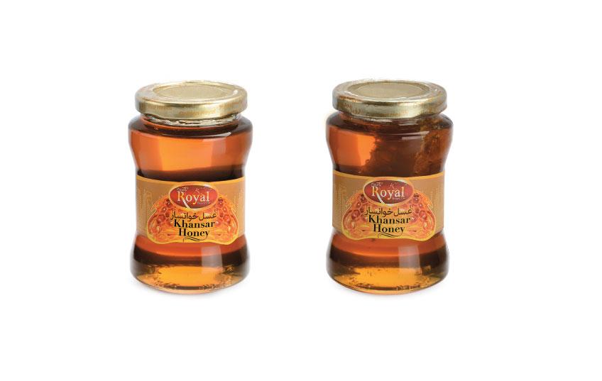 عسل 450 گرمی رویال طلایی