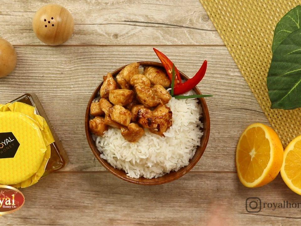 مرغ تریاکی به عسل رویال طلایی