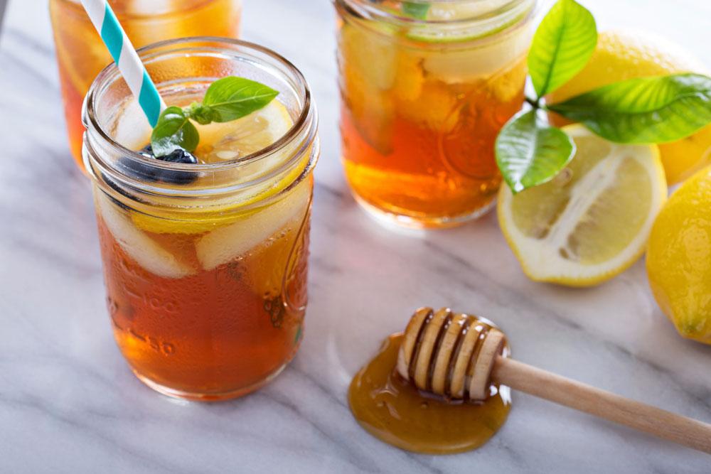 شربت عسل با لیموترش و نعنا